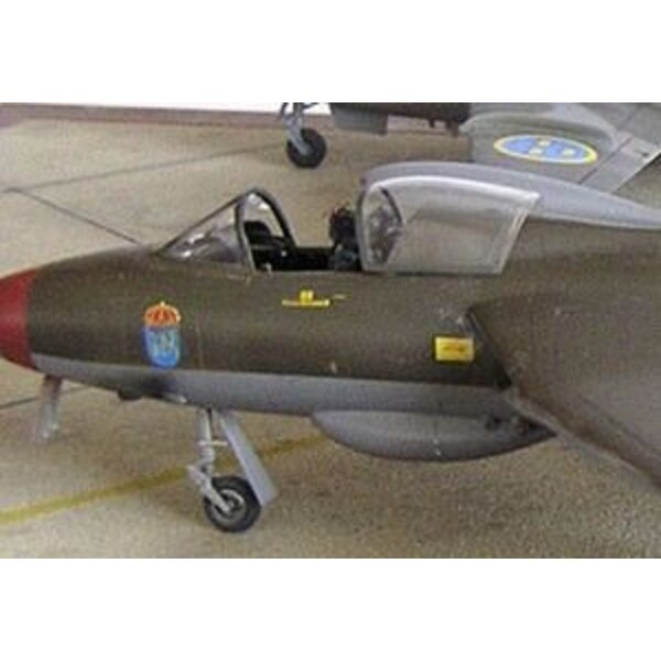 Hawker Hunter vacformed canopy (designed to be assembled with model kits from Academy)
