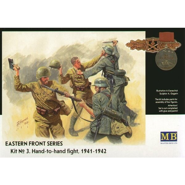 Eastern Front Summer 1941 hand to hand combat (4 fig.)