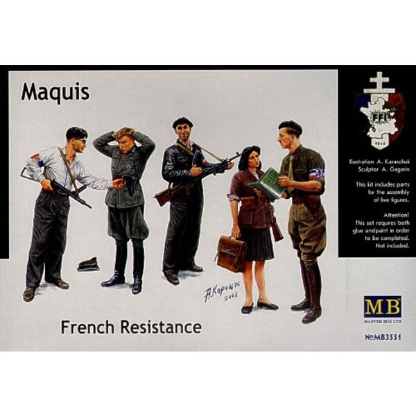 French Resistance and captured German Infantry man
