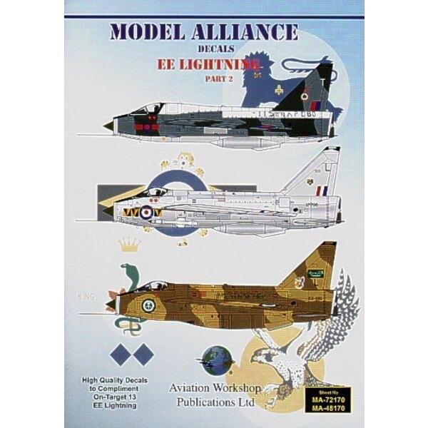 BAC/EE Lightning Pt 2 (10) F.2A XN778/A 92 Squadron RAF Gutersloh 1976 XM771/P 19 Squadron RAF Gutersloh F.3 XP706/L 74 Squadron