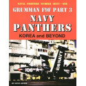book grumman f9f panthers usn part three. korea and beyond by steve ginter. 145 pages.