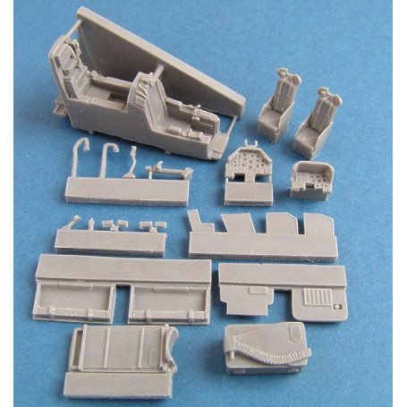 Bell AH-1S/F with ammunition bay (designed to be assembled with model kits from Hobby Boss)