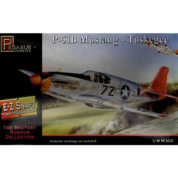 North American P-51B Mustang Tuskegee Airmen (Snap together)