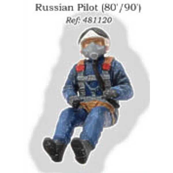 Russian Pilot seated in aircraft 1980/1990′s