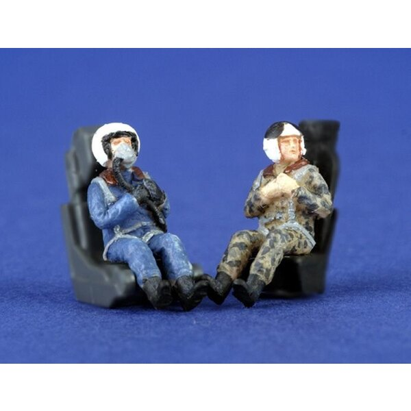 2 x modern Russian pilots seated in aircraft
