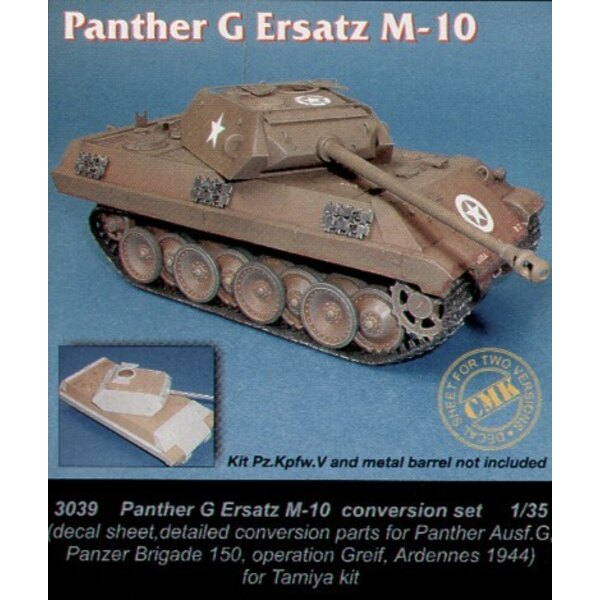 Panther G Ersatz M10 with decal (designed to be assembled with model kits from Tamiya kits)
