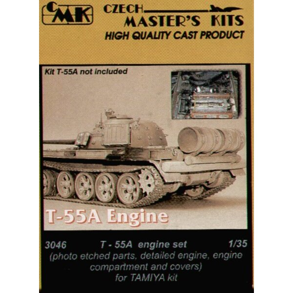 T-55A engine compartment and covers (designed to be assembled with model kits from Tamiya)