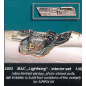 bac/ee lightning interior (designed to be assembled with model kits from airfix) vac canopy etched p