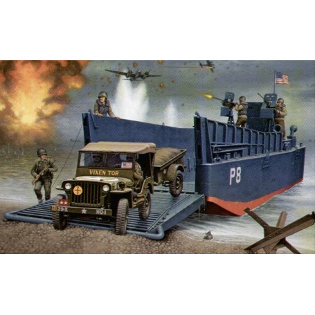 LCM III 50ft & Jeep and Trailer.
