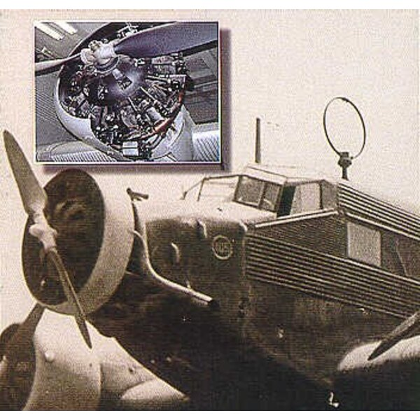 Junkers Ju 52/3M engine (designed to be assembled with model kits from Monogram and Revell)