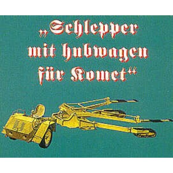 Schleup-Schlepper Messerschmitt Me 163B tow tractor (designed to be assembled with model kits from Dragon Revell or Trimaster)