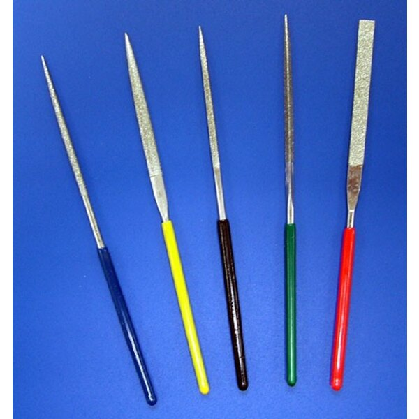 Mini Diamond File Set. 5 different shaped files ideal for small plastic models projects.