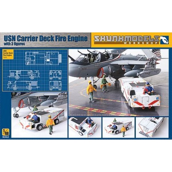 1 x USN Fire Engine as used on flight deck plus 3 x figures (including one driver)
