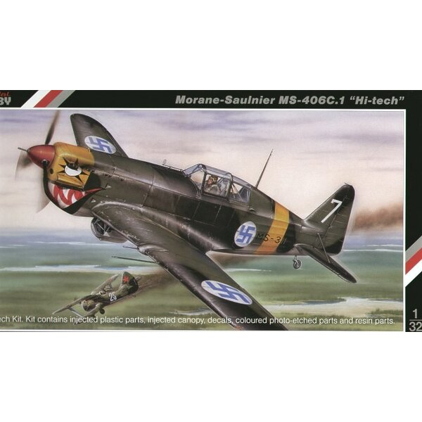 Morane Saulnier MS.406C.1 HI-TECH. Together with the Dewoitine D.520 the Morane Saulnier MS.406 formed the backbone of the Frenc