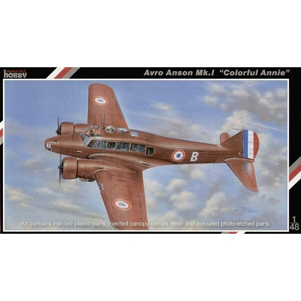 Avro Anson Mk.I. The original kit was produced for Classic Airframe and has now been enhanced with color photo-etched parts and