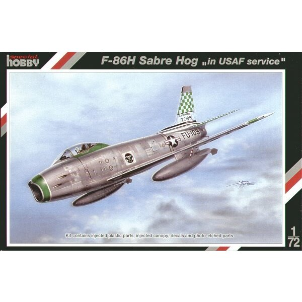 North American F-86H Sabre Hog. This was the last version of the Sabre day fighter and the most powerful version of the Sabre ev