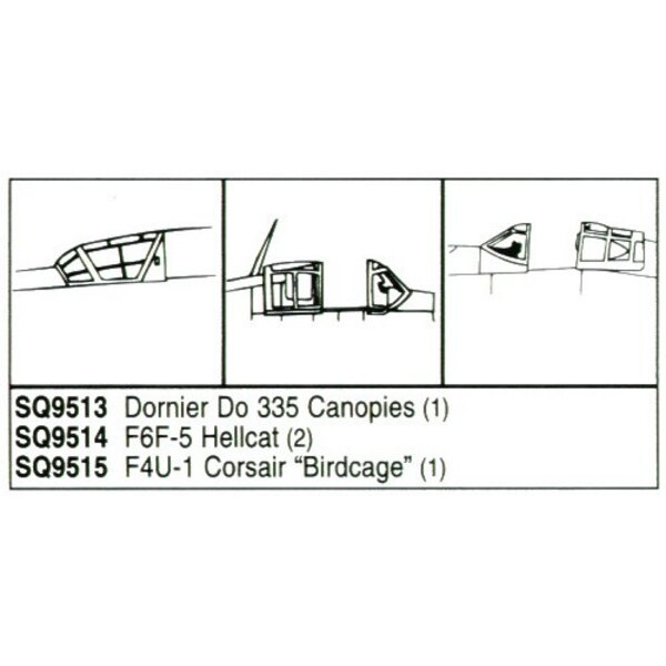 Dornier Do 335 x 1 each front and rear (designed to be assembled with model kits from Monogram)