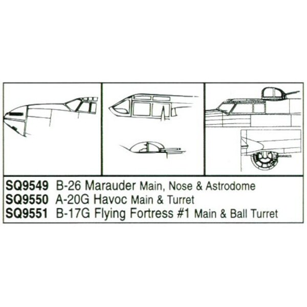 Martin B-26 canopy nose cone & blister