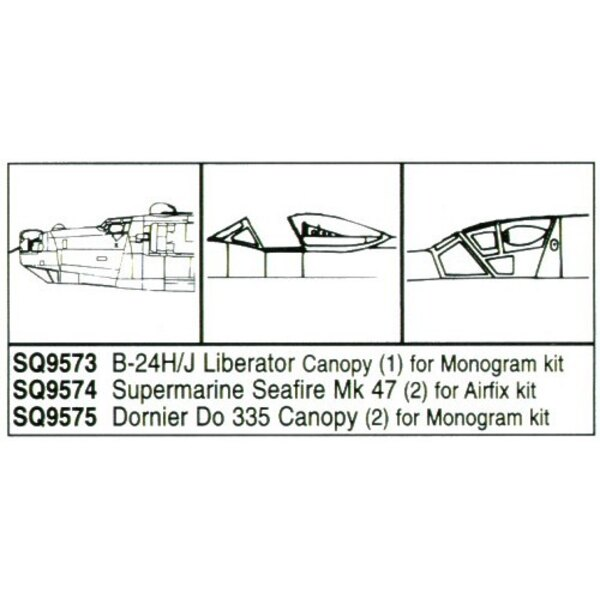 Dornier Do 335 x 2 front canopy (designed to be assembled with model kits from Monogram)