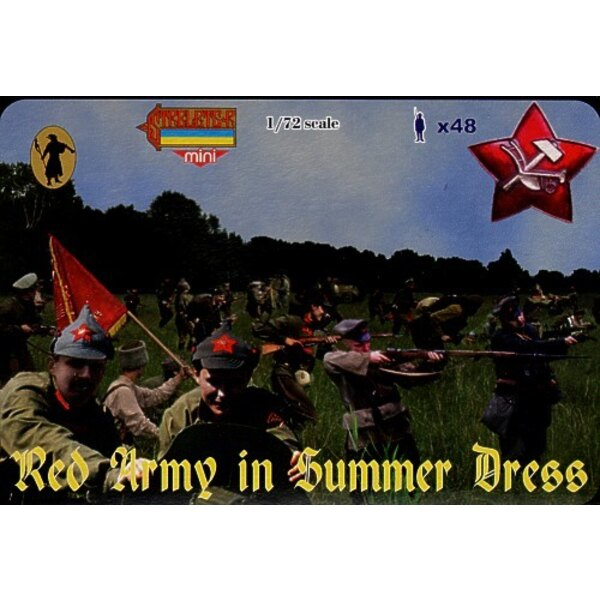 Red Army in Summer dress. Russian Civil War