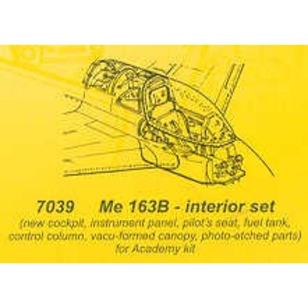 Messerschmitt Me 163B interior set (designed to be assembled with model kits from Hasegawa)