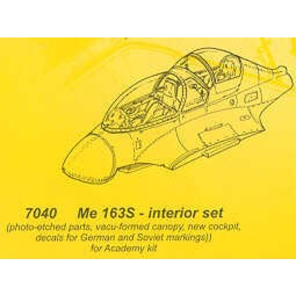 Messerschmitt Me 163S conversion (designed to be assembled with model kits from Academy)