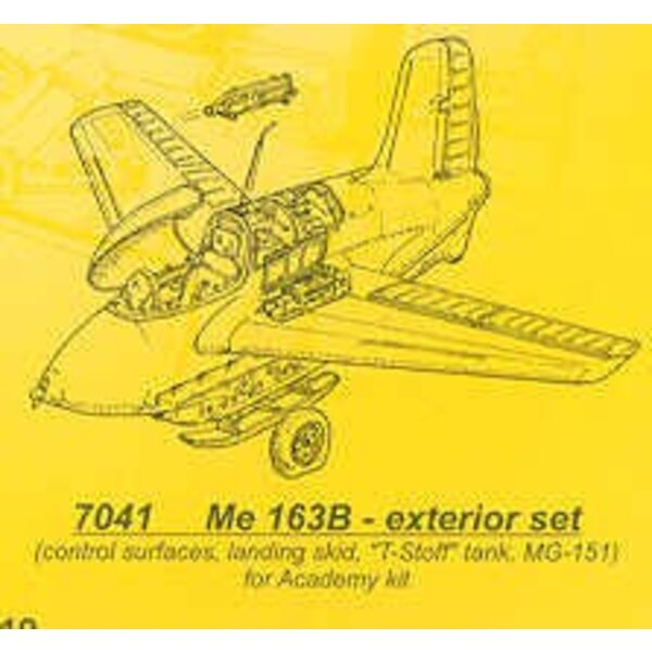 Messerschmitt Me 163B details (designed to be assembled with model kits from Academy)