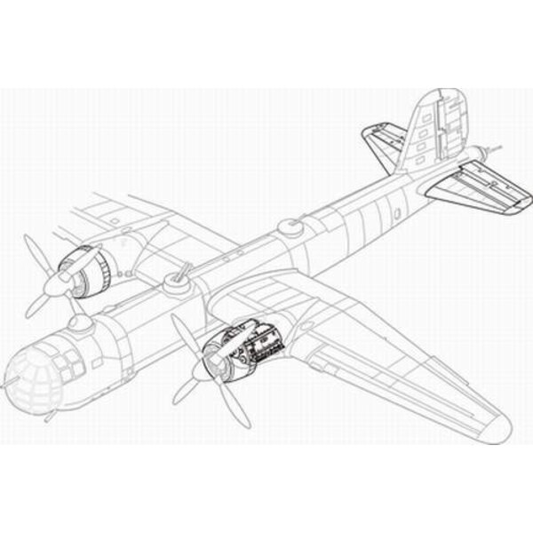 Heinkel He 177A engine set (designed to be assembled with model kits from Revell)