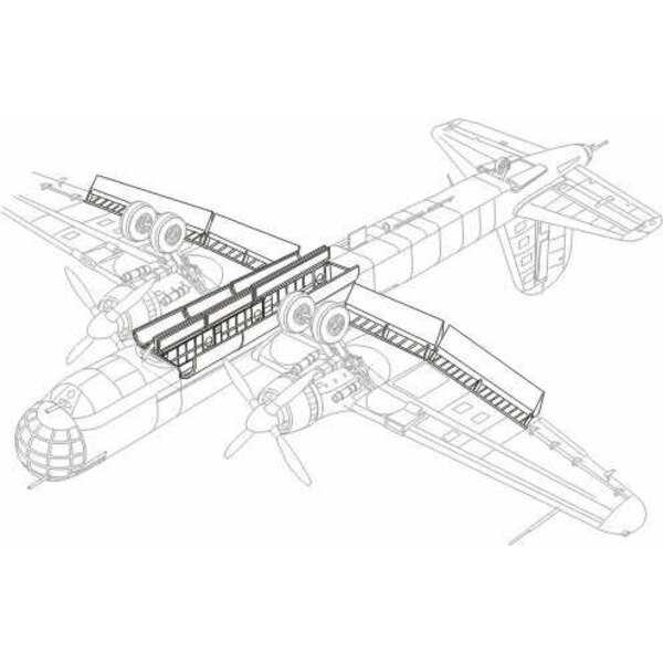 Heinkel He 177A exterior (designed to be assembled with model kits from Revell)