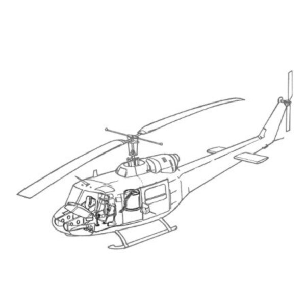 Bell UH-1B interior (designed to be assembled with model kits from Italeri kits