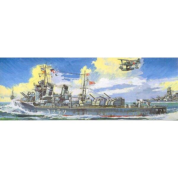 Shiratsuyu Japanese naval destroyer