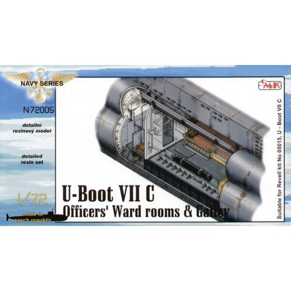 U-Boat Type VIIc Officers ward rooms and galley (designed to be assembled with model kits from Revell)