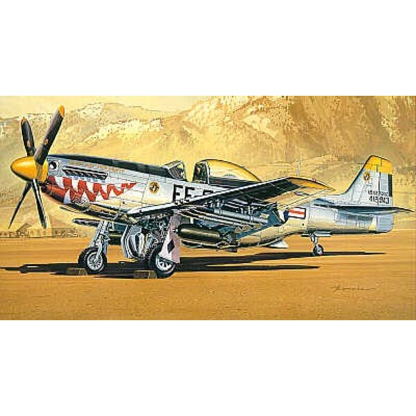 North American P-51D Mustang Korean War with rockets and bombs