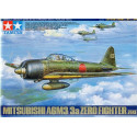 mitsubishi a6m3/3a zero. includes new tooling for wings and wing tips photo-etched wing tip folding