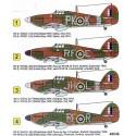 Hawker Hurricane Mk.I (4) R4175 RF-R P3700 RF-E both 303 (Polish) Squadron 9/1940 V7013 JH-L 317 (Polish) Squadron 5/1941 P2827