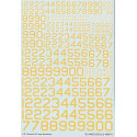 Decals US Serials and Code Numbers in Yellow. 6 8 12 16 20 28 32 36 Techmod TM48807