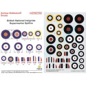 decals national insignia/roundels & fin flashes suitable for supermarine spitfire 1940-45