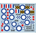 decals rnzaf north american p-51d mustangs auckland and wellington squadrons - three options. checke