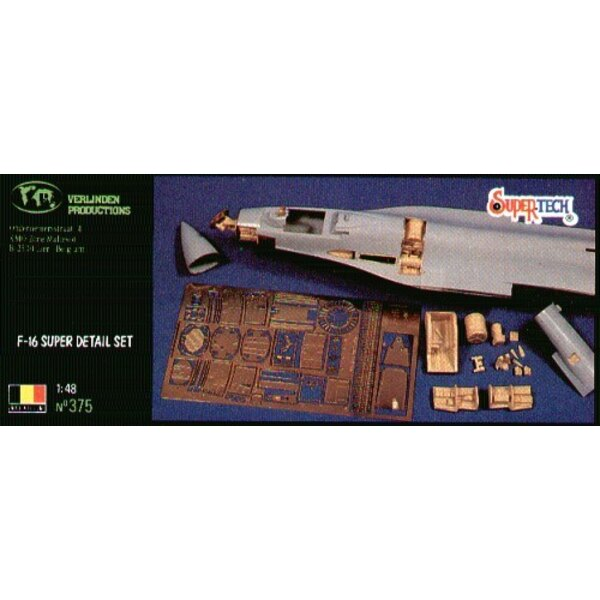 Lockheed Martin F-16 Super detail set (designed to be assembled with model kits from Hasegawa)