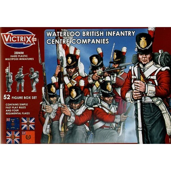 Waterloo Centre Companies t52 individual figures including officers standard bearers NCO′s and drummers. Separate heads allowi