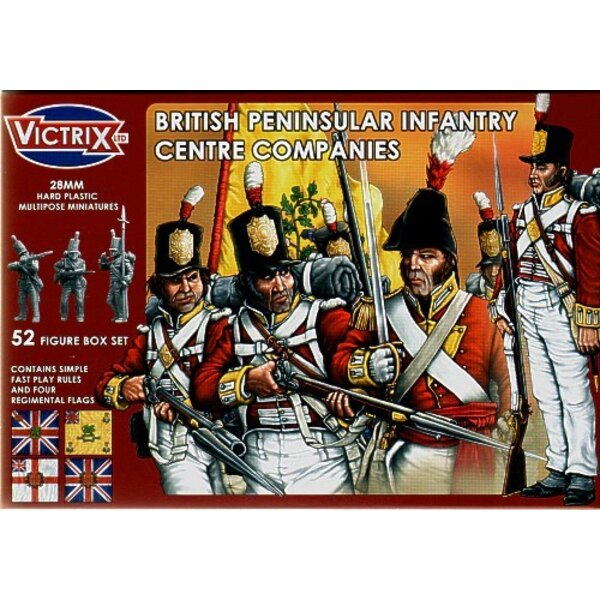 British Peninsular Centre Companies t52 individual figures including officers standard bearers NCO′s and drummers. Separate he