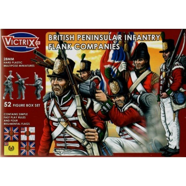 British Peninsular Flank Companies t52 individual figures including officers standard bearers NCO′s and drummers. Separate hea