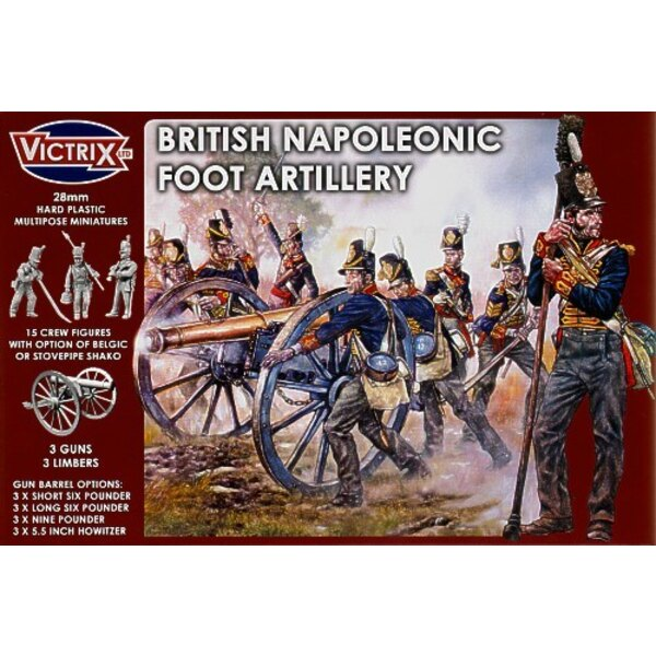 British Napoleonic Foot Artillery. Spanish Peninsula War to Waterloo. You can make early or late period guns as well as whole ho
