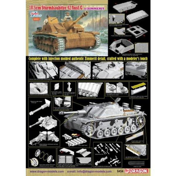 10.5cm Sturmhaubitze 42 Ausf.G with Zimmerit