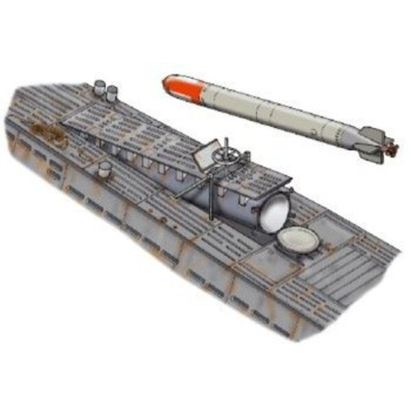 U-Boat Type VIIc Rear torpedoes´loading hatch. Set contains rear torpedoes´loading hatch. (designed to be used with model kits f