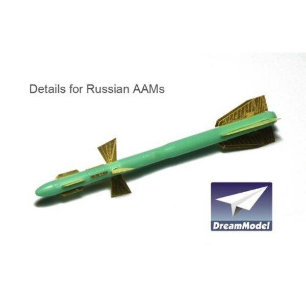 Details of Russian AAMs (designed to be used with model kits from Hasegawa)