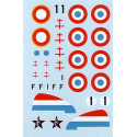 decals re-released! dewoitine d.520 (2) alternative versions from groupe doret 1944