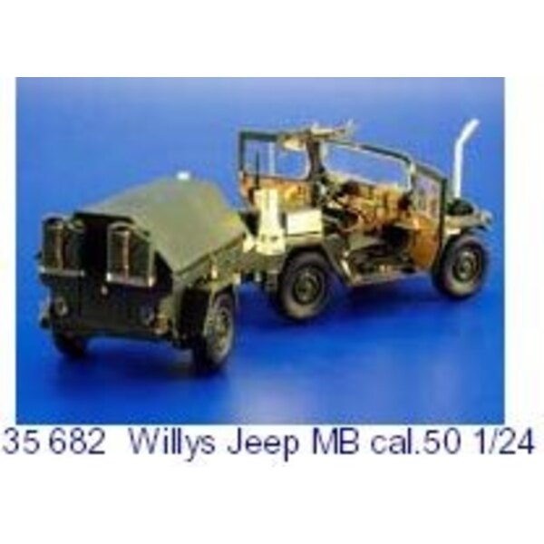 Willys Jeep MB Cal.50 (designed to be used with model kits from Hasegawa)