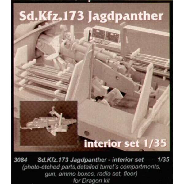 Jagdpanther interior (designed to be assembled with model kits from Dragon)