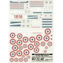 decals vichy air force 1940-42 part 1. (5) dewoitine d 520 5 escadrille 300/6 ms 406 flying school n